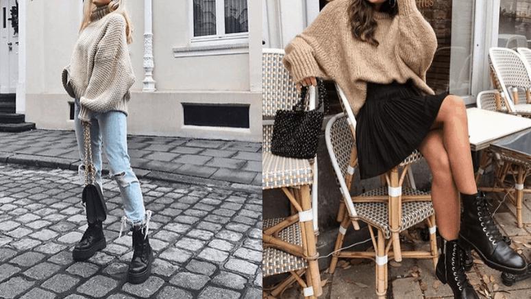 Aprende a combinar tus botas negras con looks de invierno
