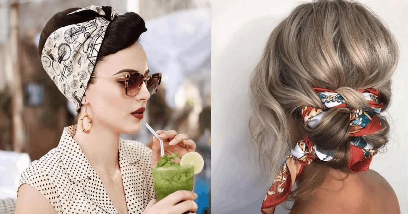 Peinados con pañuelo que te harán lucir hermosa