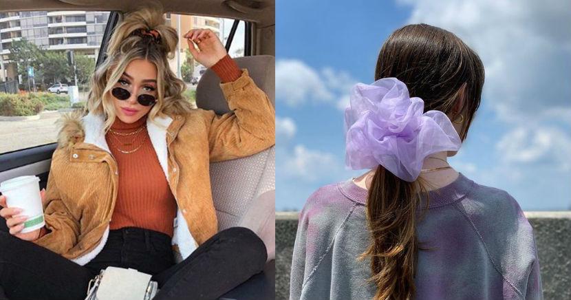 Peinados con scrunchies o 'donitas', para lucir súper chic en este año