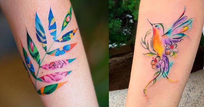 Tatuajes de acuarela que querrás hacerte ASAP