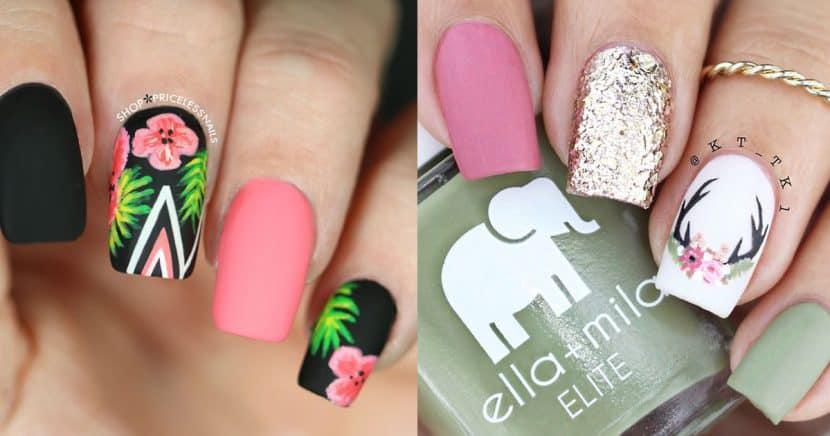 Diseños de uñas florales para recibir a la primavera