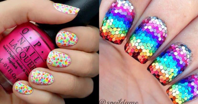 17 formas divertidas de llevar el arco iris en tus uñas