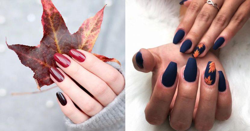 15 Diseños de uñas mani para el otoño