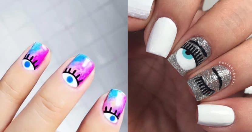 15 diseños de ojos que convertirán tus uñas en las más cool