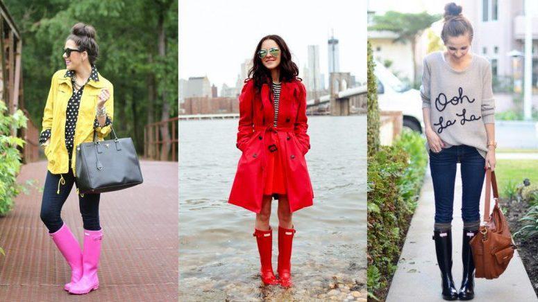 15 maneras diferentes de usar unas botas de lluvia