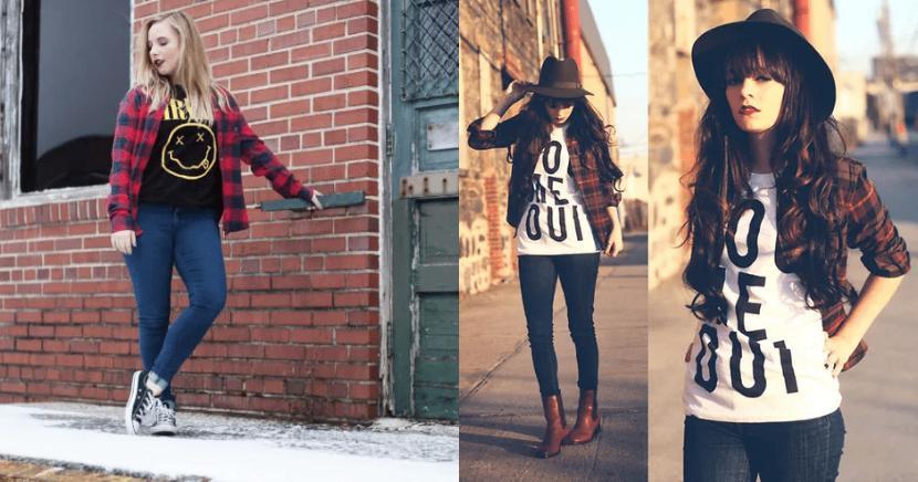 14 outfits grunge que te harán lucir espectacular
