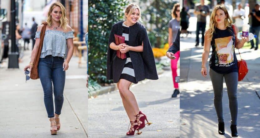 15 outfits de Hilary duff que son ideales para chicas con curvas