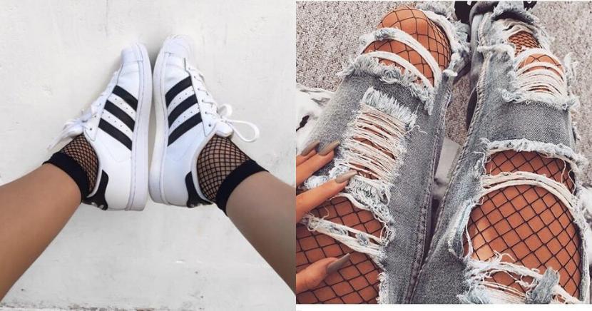 Aprende a combinar las medias de red como toda una fashionista