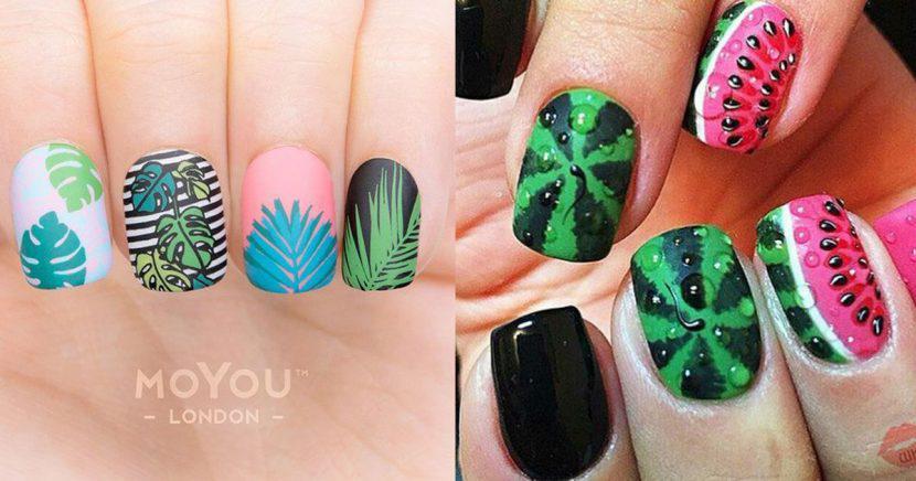 16 Decoración de uñas tropicales que te harán lucir increíbles