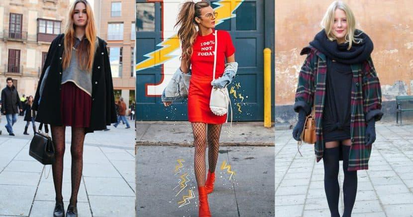 Formas increíbles de llevar unas medias en invierno