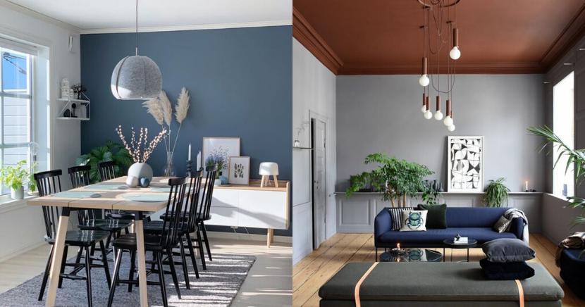 Formas sencillas de decorar tus paredes usando colores
