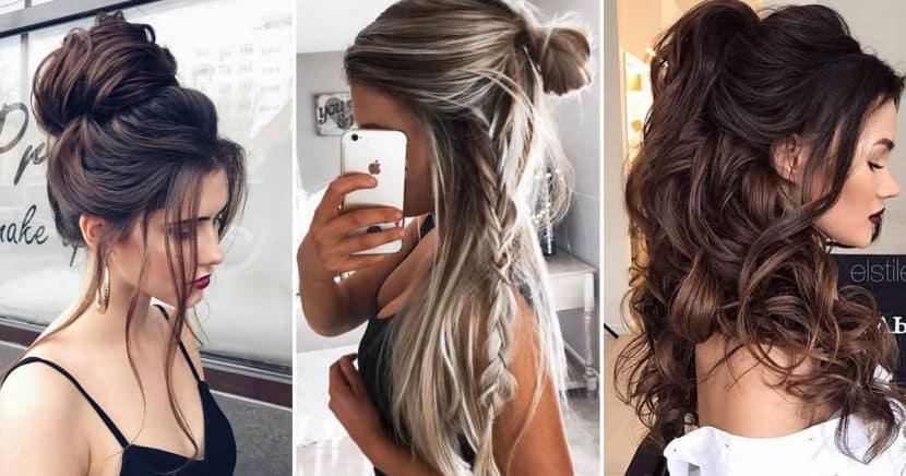 Peinados fáciles para chicas con melena XXL