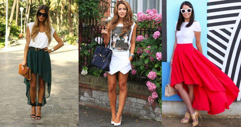 Faldas asimétricas, la prenda más trendy del verano
