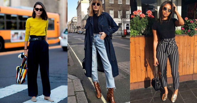 Formas súper trendy de usar pantalones a la cintura y verte más alta