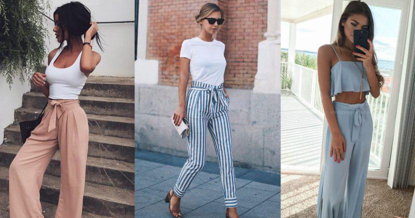 14 formas súper chic para usar unos paper bag pants