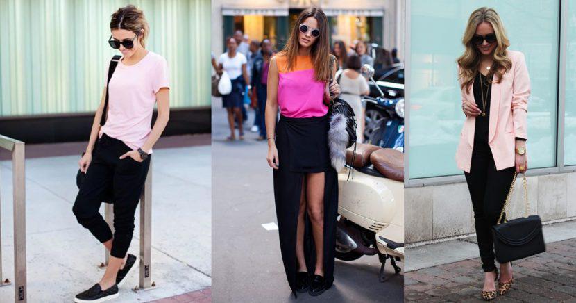 Ideas súper divertidas para armar un outfit rosa con negro