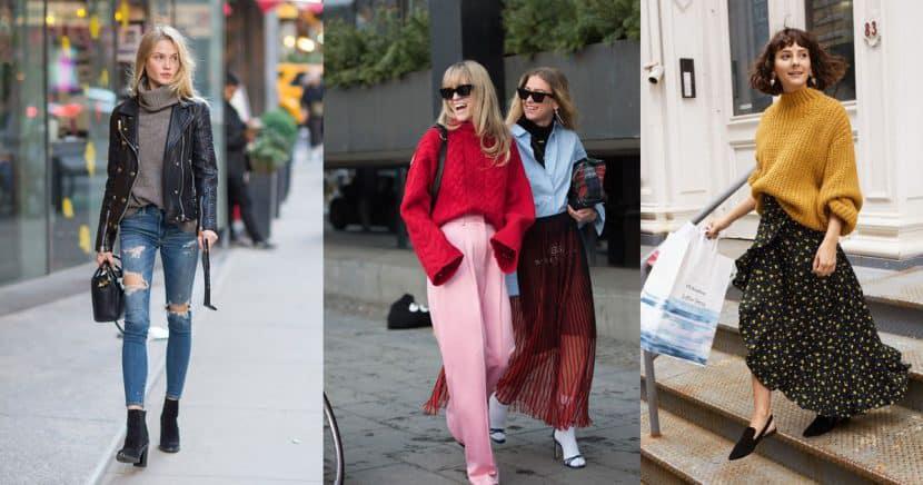 Ideas increíbles para usar suéteres en otoño
