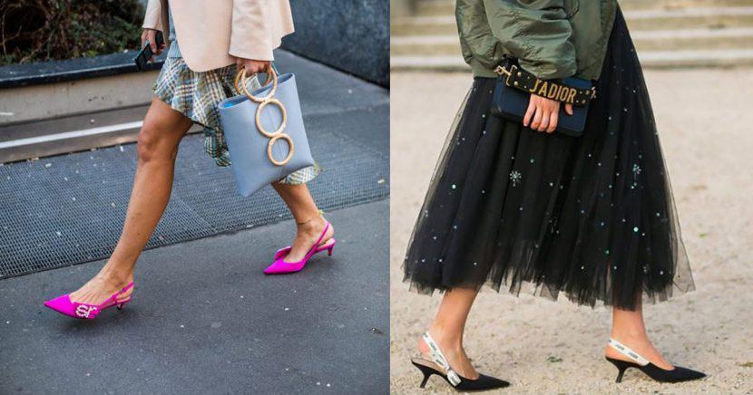 ¡Los kitten heels son los zapatos más cómodos y chic del street style!