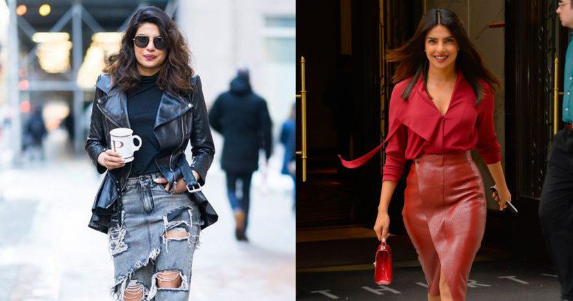 Looks impactantes de Priyanka Chopra para chicas con piel apiñonada