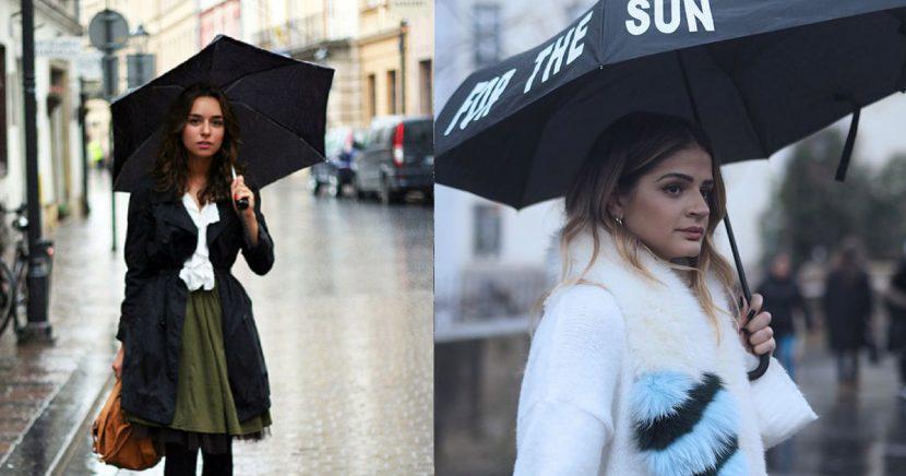 13 looks ideales para un día de lluvia