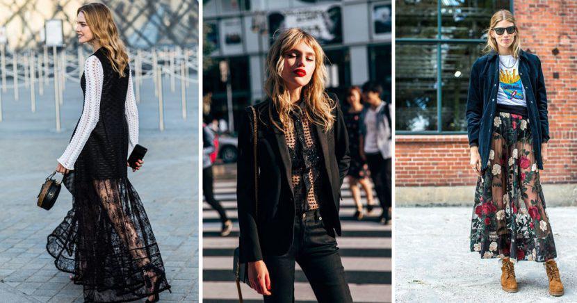 12 maneras increíbles de combinar tus prendas transparentes