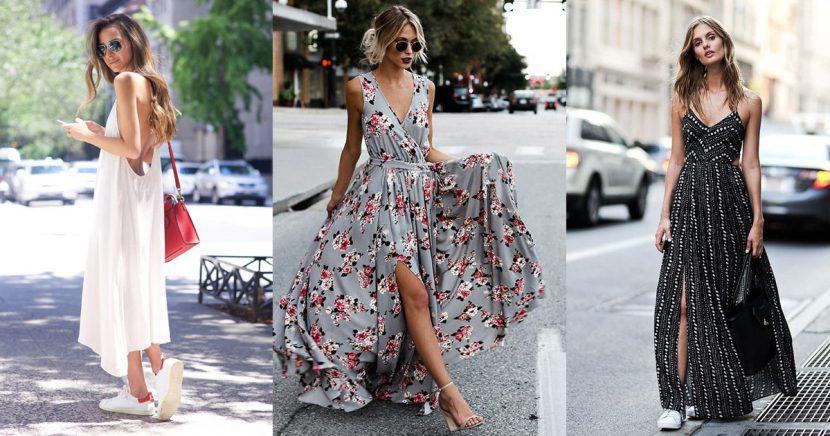 Aprende a usar un maxi vestido como toda una experta