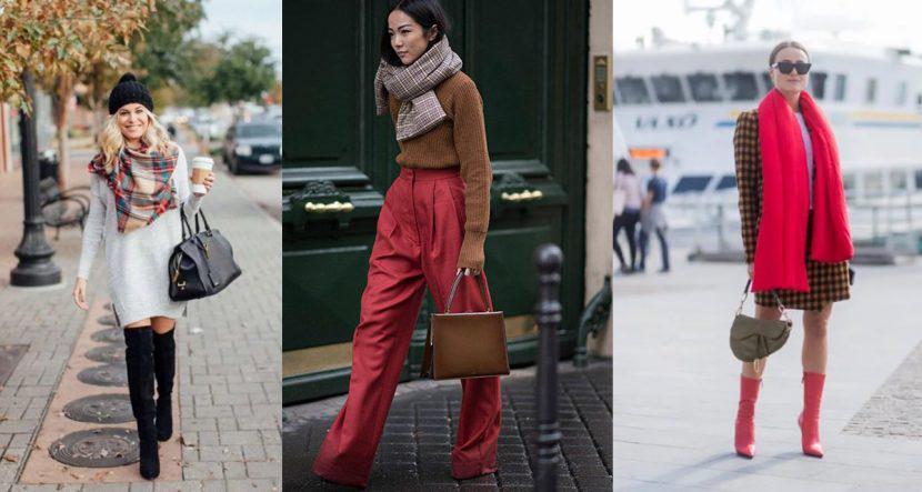 15 outfits calientitos que puedes armar con una bufanda