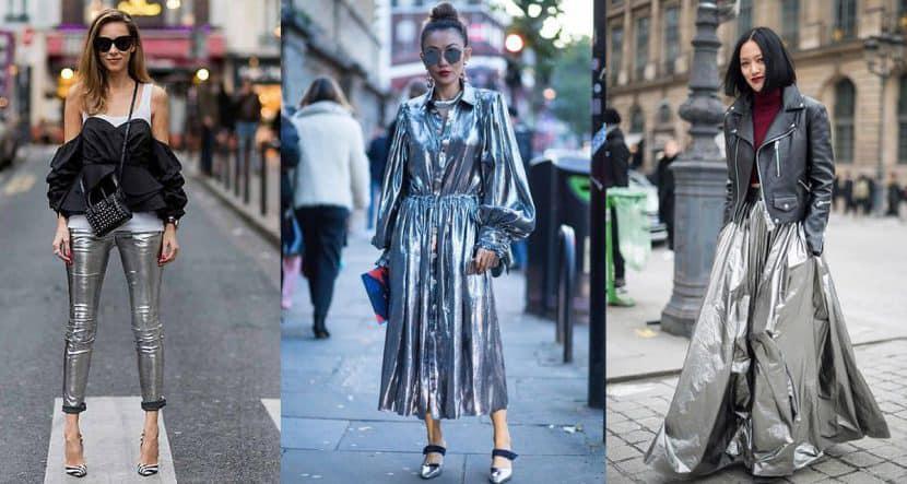 Outfits metálicos, los favoritos del invierno y de este Año Nuevo