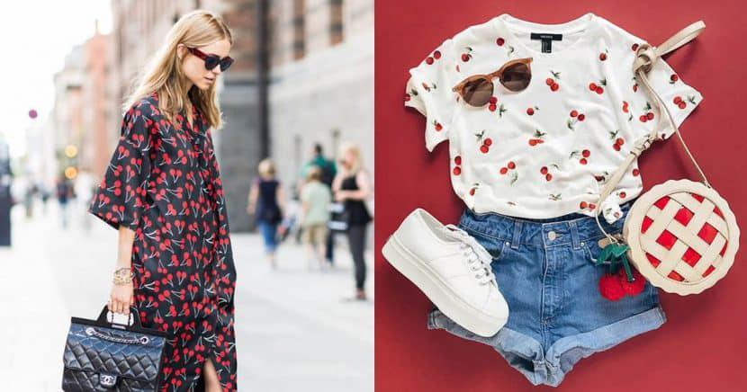 Outfits y accesorios inspirados en cerezas