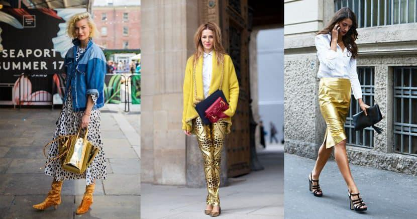 Piezas doradas que te harán brillar en el street style