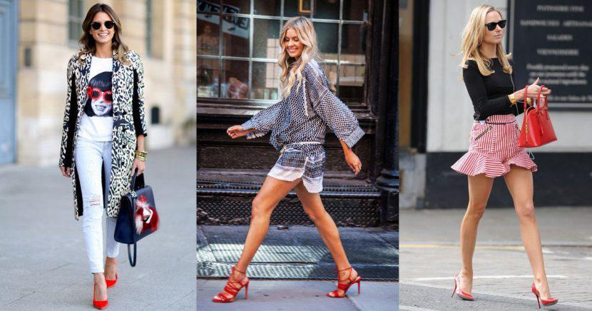 16 Looks con tacones rojos para ir a la oficina