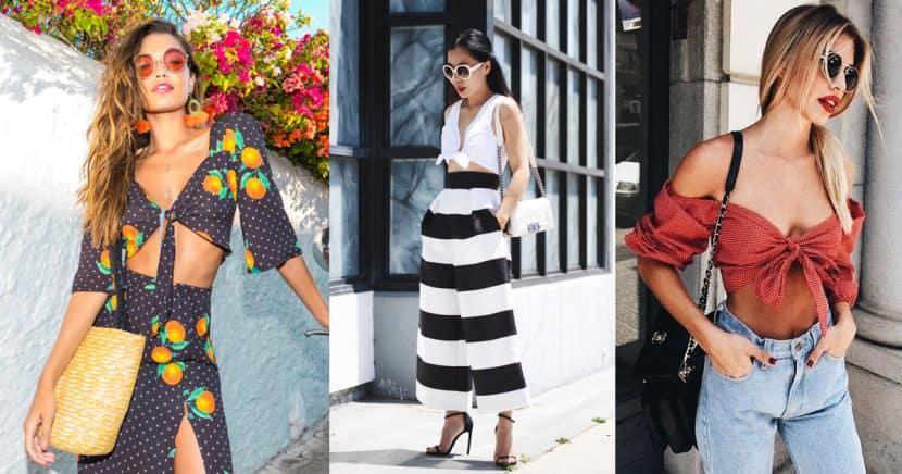 Los tie-front tops se convierten en la prenda perfecta de verano