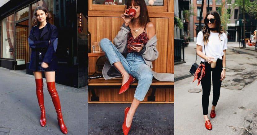 Formas de que tus zapatos rojos se conviertan en protagonista de tu look