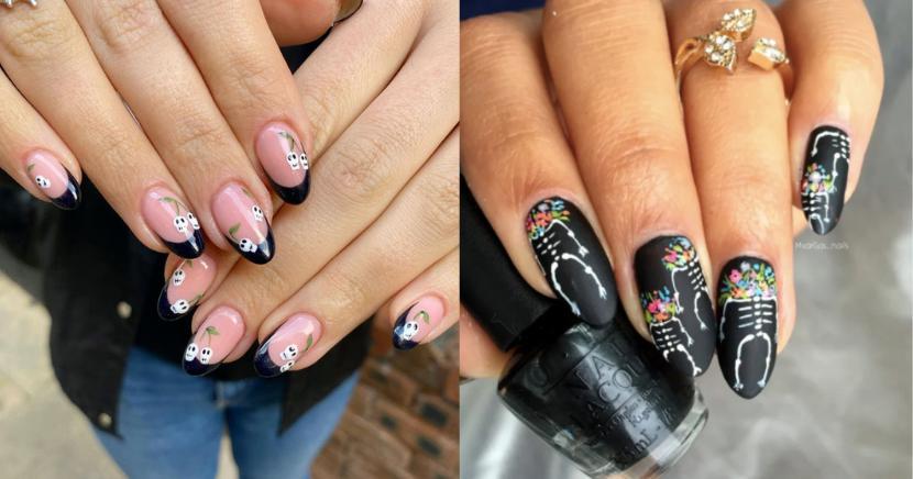 Diseños de uñas para Día de Muertos