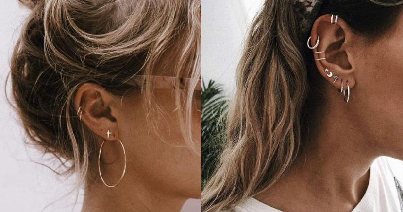 Ideas increíbles para usar piercings dobles y triples