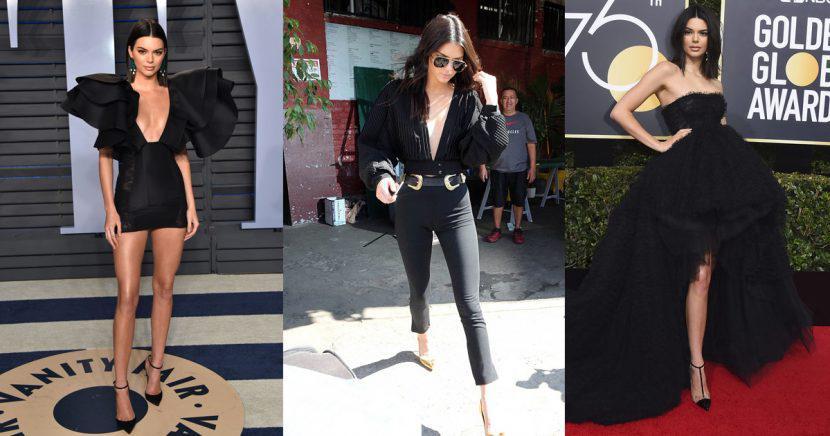 15 veces en que Kendall Jenner demostró que el negro es la mejor opción