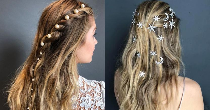 Peinados con cadenas para darle un toque muy cool a tu look