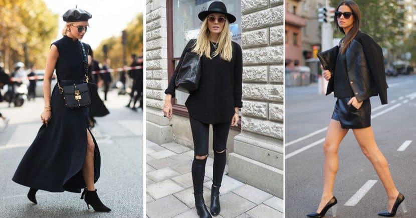 12 total black looks para todas las amantes de este color
