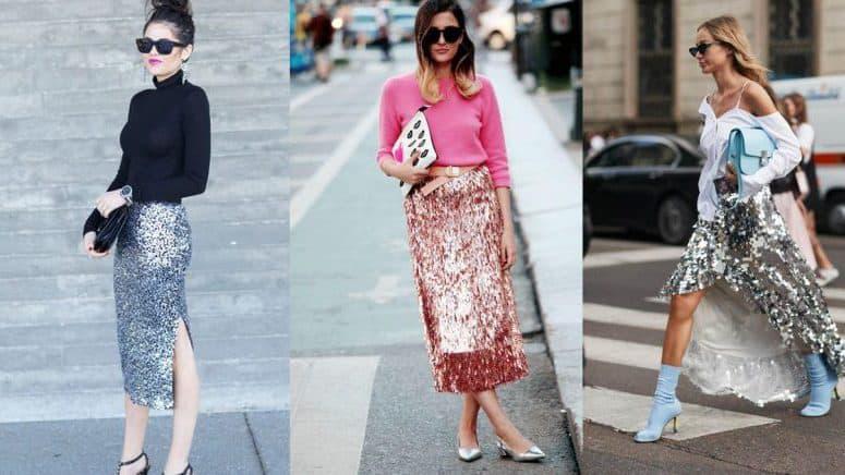 Las faldas glitter te harán brillar en el street style