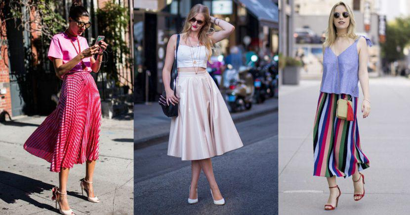 Las faldas midi son todo lo que necesitas para un look ultra chic