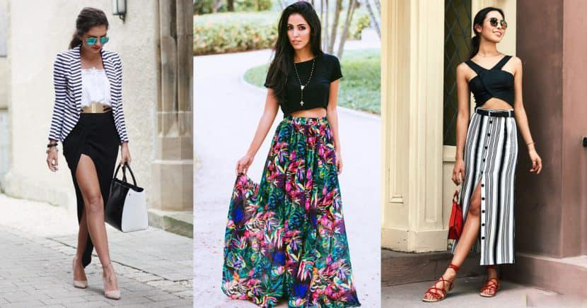 Aprende a armar un look fashionista con una maxi falda