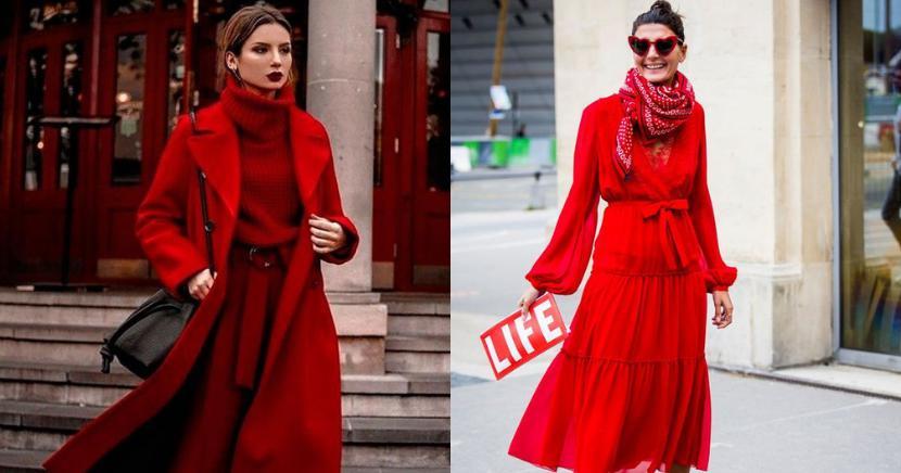 El rojo se ha convertido en la tonalidad favorita del otoño