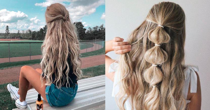 Ideas de peinados para niñas con ligas