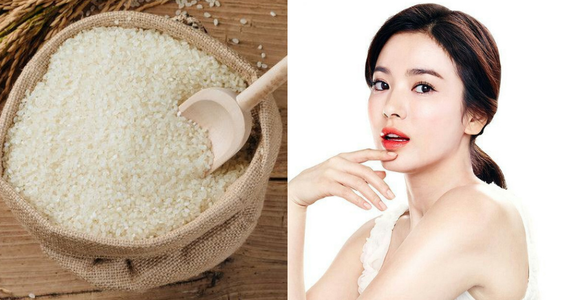 Mascarilla coreana de arroz para eliminar las arrugas