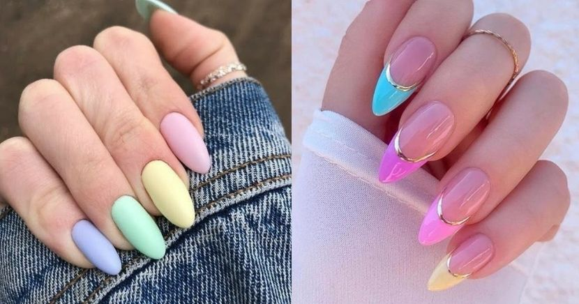 Ideas de uñas en colores pastel