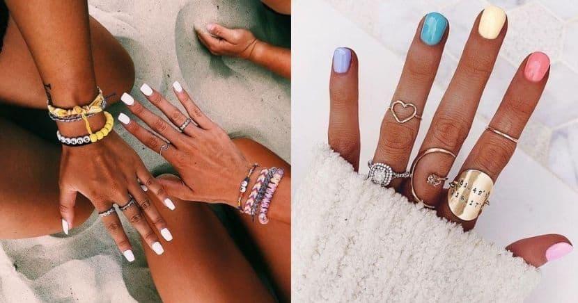 Diseños de uñas aesthetic para piel morena