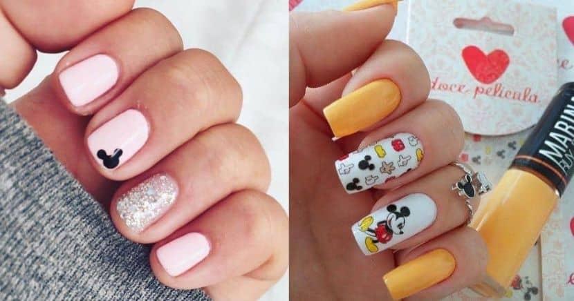 Diseños de uñas de Mickey Mouse