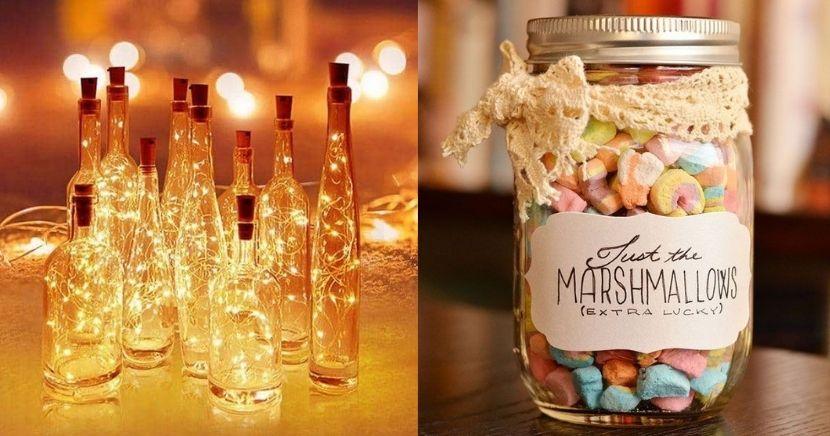 Ideas de regalos en botellas de vidrio