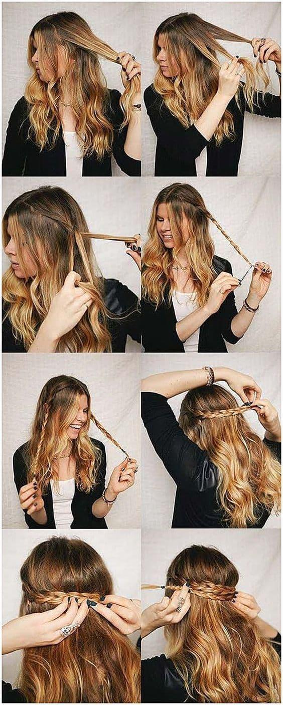 Peinados que te harán desear tener cabello largo - trenza paso a paso