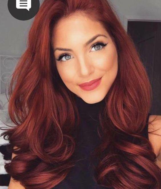 Tintes de cabello que te harán ver más joven - Rojo
